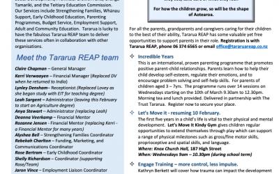 Panui from Tararua REAP