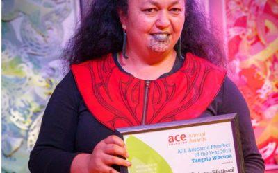 Ani Pahuru-Huriwai: 2018 ACE Aotearoa Annual Award for Member of the Year Tangata Whenua